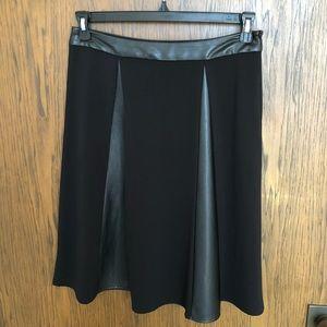 Black/Pleather Flared Skirt